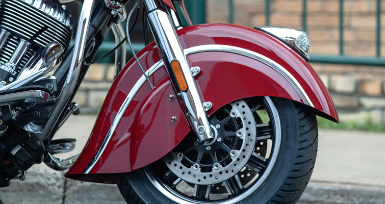 "Valanced Front Fender with 16"" Wheel"