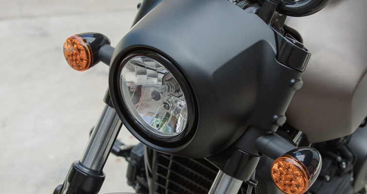 Blacked-out Headlight Nacelle